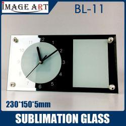 DIY 230 * 150 * 5mm 12용 승화 Blanks 유리 시계 사진 프레임 PCS/Carton Bl-11