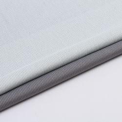 Novidade CVC 66%C34%T teia de algodão costela de tricotar Striped único tecido Jersey para T-shirt Dress