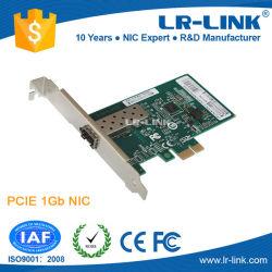 Pcie X1 1000base-Fx SFPのポートのファイバー光学LANネットワークカード(基づいてIntel 82576)