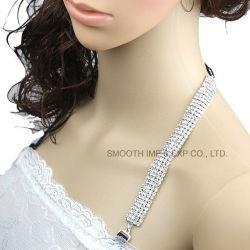 女性の服のための方法ラインストーンの金属のブラの不可視性の肩ひも