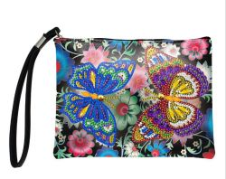 Fashion 5D DIY Diamante artesanais Pintura de mala impermeável de couro