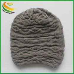 De bonne qualité tricot jacquard coton/ acrylique Beanie, l'hiver Hat