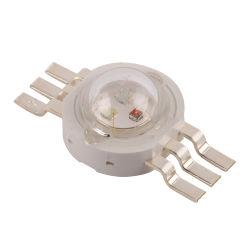 Élevé à 6 broches Lumen tricolore 3W LED haute puissance RVB