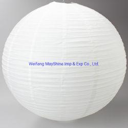 党装飾の結婚式のためのちょうちんのあたりの5円形の卸し売り白い中国のハンドメイドのハング
