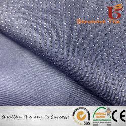 Puntos de PVC antideslizante de sarga Gabardine recubierto de tejido de zapatilla