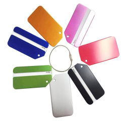 Promotion de l'aluminium personnalisé colorés Luggage Tag