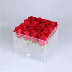Акрил 9 закрывается пластиковой Crystal роскошь оптовой цветок поле дисплея
