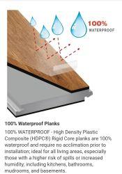 100% 방수 바닥, Lifeproof Sterling Oak Waterproof Vinyl Planks 바닥재 방수 스파크가 있는 바닥