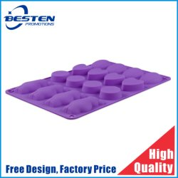 شكل مخصص ثلاثي الأبعاد Easy Release Silicone Ice Cube Tray