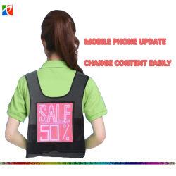 Nieuwe Mobiele LEIDEN van de Kleur van de Reclame van de Telefoon WiFi Programmeerbare Volledige Programmeerbaar Vest