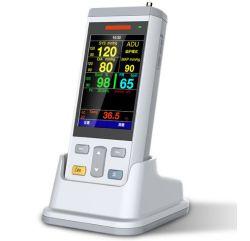 De goedkope LCD van de Prijs Handbediende Geduldige Monitor van de Levensteken van de Multiparameter SpO2 NIBP Draagbare (AMVT200)