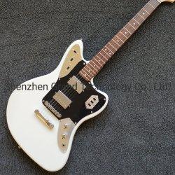 Modelo de Jaguar con Top blanco guitarra eléctrica con Hardware Slivery