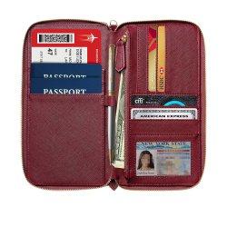 PU Cuir violet titulaire du passeport avec l'attache
