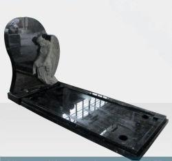 Monumento In Pietra Naturale Di Granito Nero Tombstone Sf-032 Per Il Giardino Della Cremeria