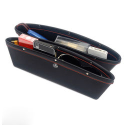 Asiento de coche universal espacio de almacenamiento de la caja del Organizador de bolsillo de hendidura.