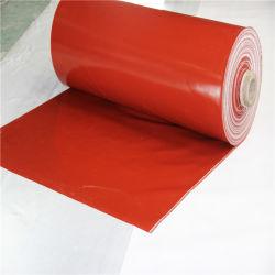 De Vuurvaste Doek/de Stof op hoge temperatuur van de Glasvezel van het Silicone van de Weerstand van de Corrosie Rubber Met een laag bedekte