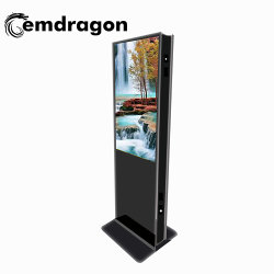 Big Ad Player Double Sided Display 43 Inch Advertising Product Ultra-Thin Digital Photo Frame Met Led Digital Signage