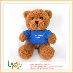 Мягкие Мягкие плюшевые игрушки коричневый Мишка вышивкой логотипа игрушки