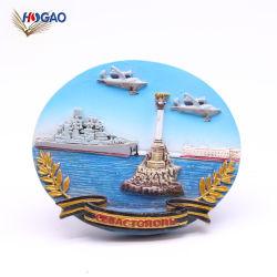 OEM-туристических сувениров подарок рекламных продуктов пользовательских 3D-Полимер маяка сувенирный холодильник магниты для импорта
