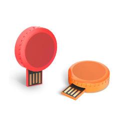 Dekking Swivl USB van de Aandrijving van de Flits van de Stok USB van het Geval USB van de Levering van China de Nieuwste Mini Plastic Ronde voor de Gift van de Bevordering
