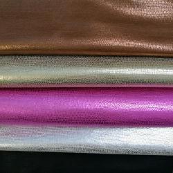 Tejido Popular PU de cuero artificial para zapatos bolsas (HS011)