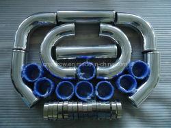 販売のための台紙のターボユニバーサル前部Intercoolerの配管キット、シリコーンのホースおよびクランプキット