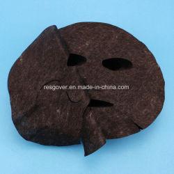 Nano précoupé activé fonctionnelle en fibre de carbone masque facial noir