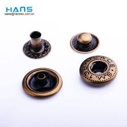 Hans 2019 Venta caliente de metal de tamaños diferentes botones a presión para el Cuero