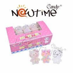 Rosa-Miezekatze-Magnet der Karikatur-NTT18178 mit bunter Süßigkeit im Kasten