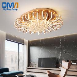 온난한 가벼운 샹들리에 로즈 황금 LED 천장 램프
