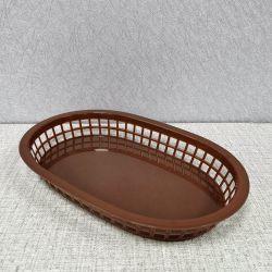 Confezione da 12 vassoi per pane e cibo marrone, cestini per il servizio di fast food