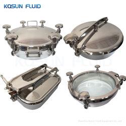 SS304 316L réservoir d'eau en acier inoxydable sanitaires carré en acier inoxydable plaque d'égout ronde / / / couvercle de réservoir sanitaires Manway