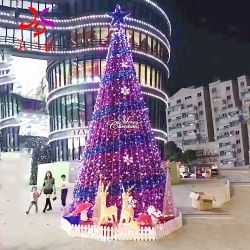 Esterni giganti di Music Box illuminano in su gli alberi di Natale del collegare del PVC RGB della pagina del metallo