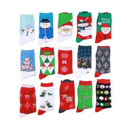 Custom Sports Various Christmas Series Santa Claus Sokken for Man Casual School Fashion Cartoon kleurrijk Happy Factory Manufacture Prijs voor Mannen