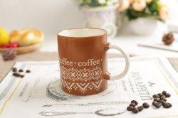 11oz陶磁器の石器安いカラー艶出しの昇進のための手塗りのコーヒー・マグ