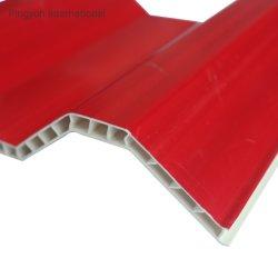السقف المتحرك PVC Hollow المقاوم للأشعة فوق البنفسجية UPVC Mulit لوح للسقف ASA طولٍ بسقفٍ بلاستيكي مجعد
