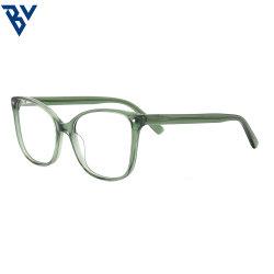 BV 2021 사각형 준비 재고 새로운 도착 녹색 패션 스퀘어 고품질 비즈니스 스타일 안경 블루 라이트 투명 광학식 유니섹스 프레임
