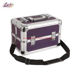女性のためのStorage Cosmetic Make-up Carry Bo良質のAuminumのケース