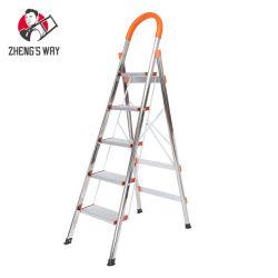 Degrau da escada dobrável de alumínio 4-5 Multi Uso doméstico Ladderaluminum flexível de dobragem 4-5 do degrau da escada dobrável Multi Foldi domésticos