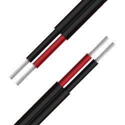 4,0 mm2 Double isolation en polyéthylène réticulé de cuivre sans halogène 1500V et TUV IEC double câble PV solaire certifié