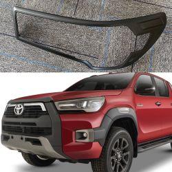 Ycsunz Accessoires de voiture tous les nouveaux cache feu de tête noire ABS pour 2020 2021nouvelle Toyota Hilux