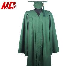 Erwachsene dunkelgrüne Staffelung-Schutzkappen-Kleid-Troddel für Highschool