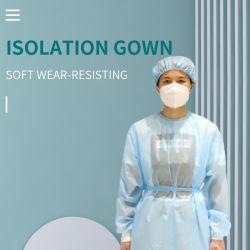 À prova de plástico vestido de isolamento cirúrgico descartáveis Beca Pijamas Hospitalar batas cirúrgicas para venda