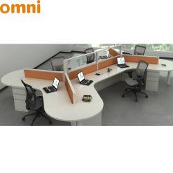 مفتوحة خطّة مكتب حاجز حجيرة تصميم 120 درجة مكتب 6 مقادة مكتب مركز عمل أثاث لازم ومكتب حاجز شريكات
