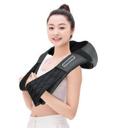 Masseur shiatsu cervicaux électrique de la chaleur de l'épaule arrière du tambour de pétrissage Pétrissez châle de massage