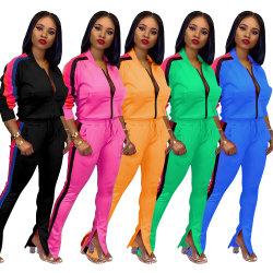2021벌의 새로운 도착 차림새 원인이 되는 바지 2명 피스 Clothing Fashionable Streetwear 고정되는 여자 숙녀