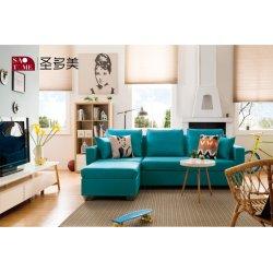 Прямой продажи удобные синего цвета ткани искусства диван