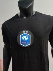 Fff Frankreich LED kleidet das helle Elektrolumineszenz-EL-akustische Steuerglühen-T-Shirt fehlerfreies betätigt für Partei