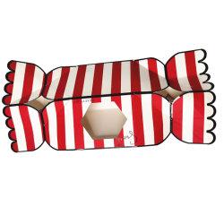 Het Verpakkende Vakje van het Document van het Vakje van de Gift van het Suikergoed van de Manier van de douane met Venster voor Kerstmis