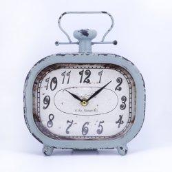 Horloge de table classique Antique Metal arabe chiffres Retro Decorative Desktop Horloge